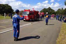消防団が操法大会に向け公開練習