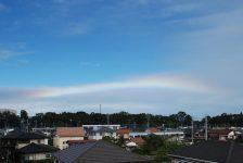 台風26号が関東を通過。空には美しい虹。