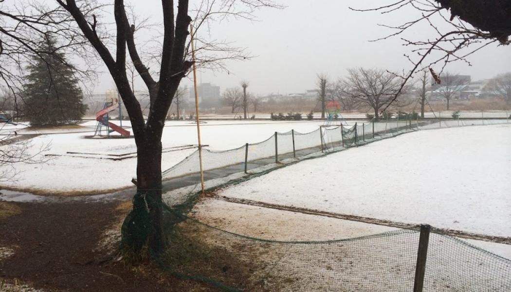 狭山市初積雪
