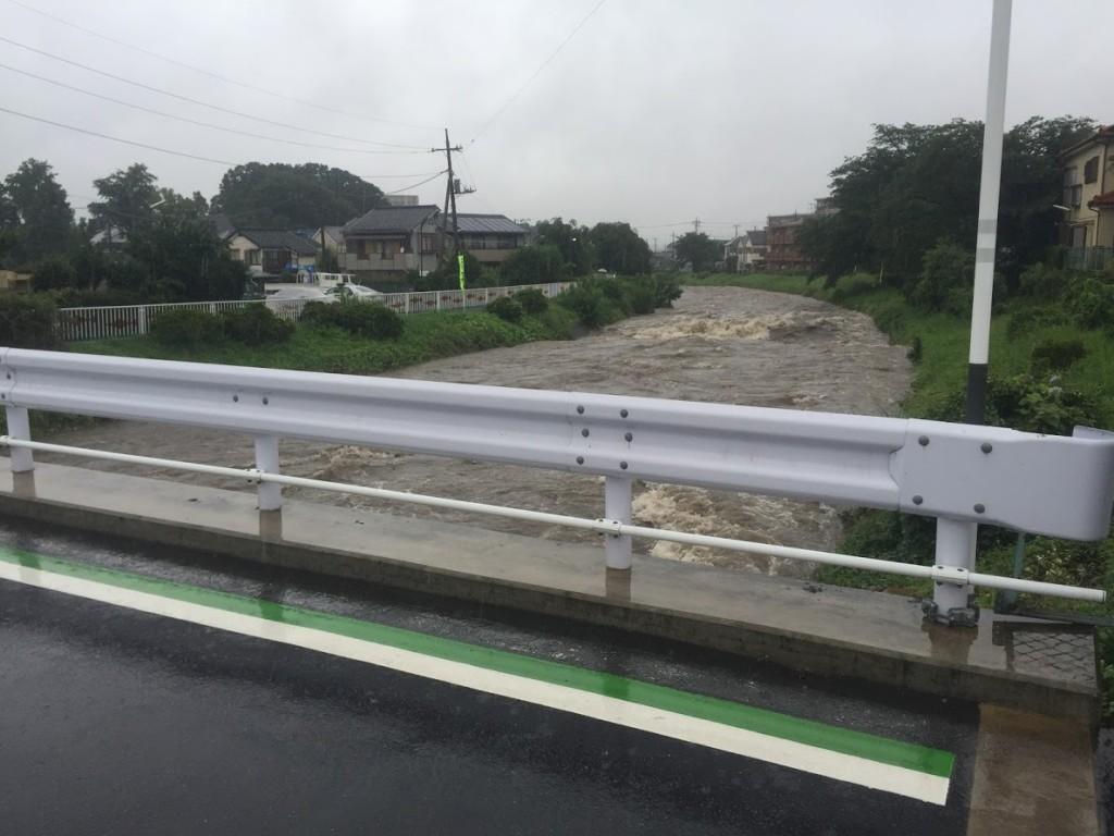 アイサヤマ 台風11号 増水 i-Sayama 埼玉県狭山市