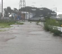 台風9号の影響で、狭山市内の用水路や河川が決壊。市内に避難準備情報が発令