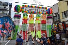 2017狭山入間川七夕まつり全竹飾りと七夕の様子ギャラリー