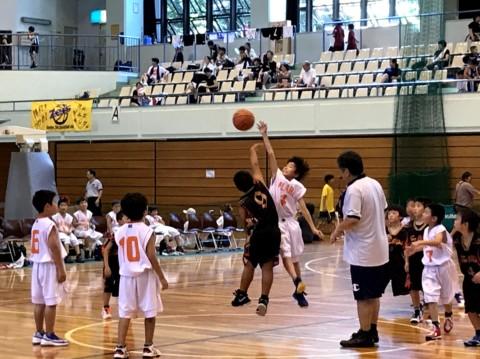 はじめての対外試合!フレッシュミニバスケットボール大会
