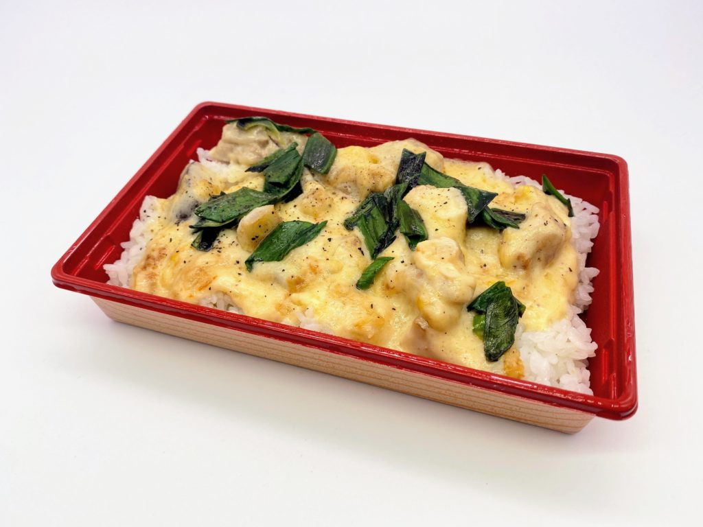 宮崎鶏と椎茸のクリーム煮・ドリア風
