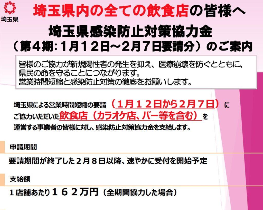 埼玉県感染症防止対策協力金